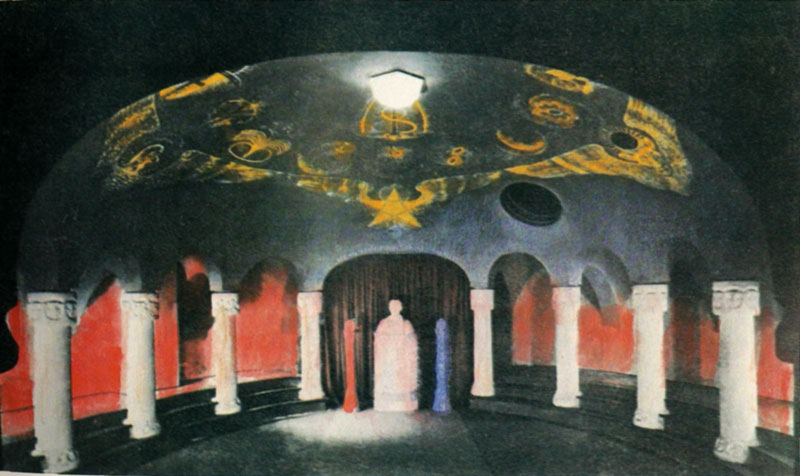 art inspired by rudolf steiner  basement hall of